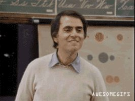 My go-to GIF for shouting out volunteers and anyone else that deserves it. Happy birthday, Carl Sagan!