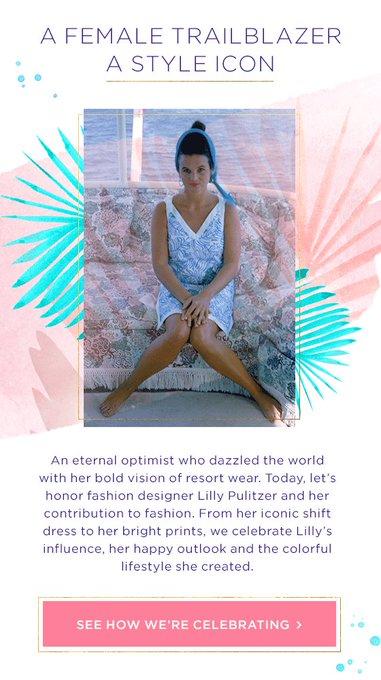 Happy birthday, Lilly Pulitzer !
