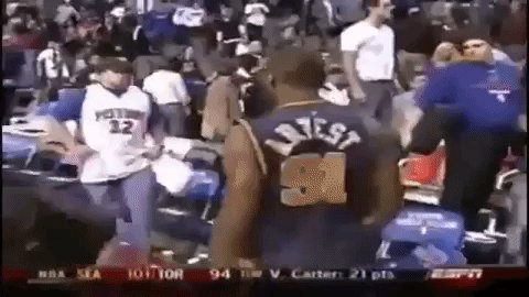 Happy birthday Ron Artest - a man who ironically changed his name to \Metta World Peace\ after this incident
