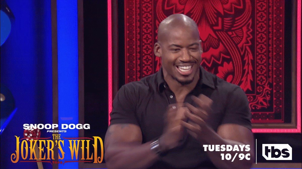 RT @JokersWildTBS: See if this dude breaks the lever with those arms, TONIGHT at 10/9c. ???? #JokersWild https://t.co/PceuQyvmuw