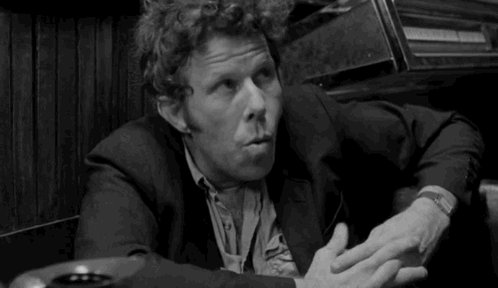 Happy birthday maestro Tom Waits!  Here in Jim Jarmusch\s Coffee And Cigarettes...