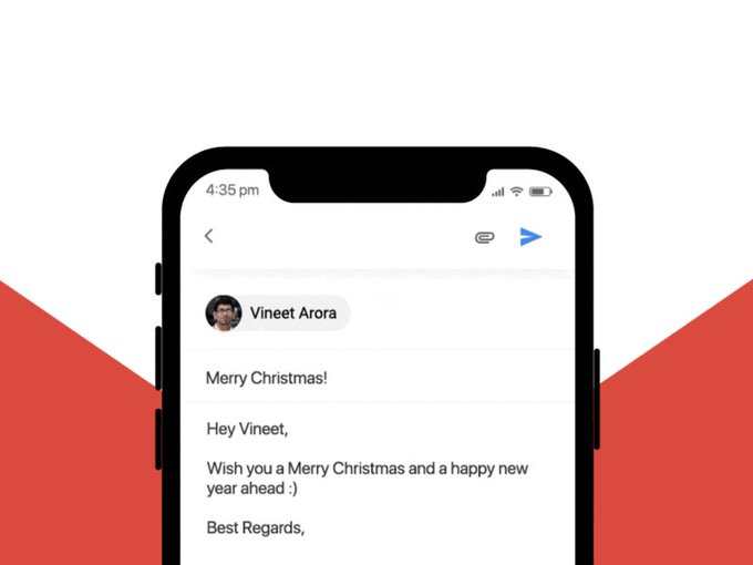 Freebie- Gmail Send Christmas Animation by vineetarora94 freebie