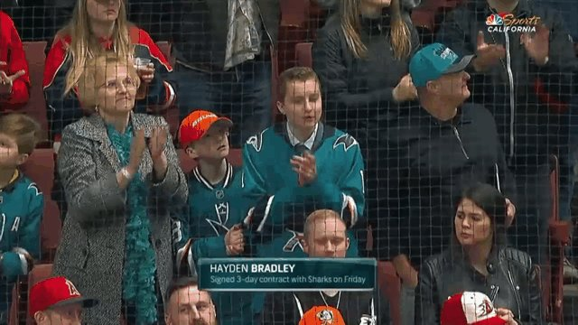 RT @SanJoseSharks: Safe to say Hayden is having a pretty good time tonight. #SJSharks https://t.co/lF78QQ3P33
