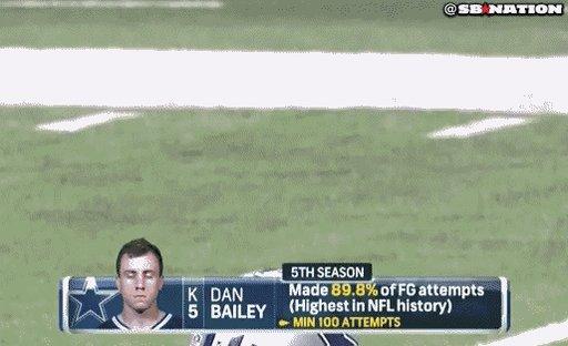 Happy birthday to the GOAT, Dan Bailey!
