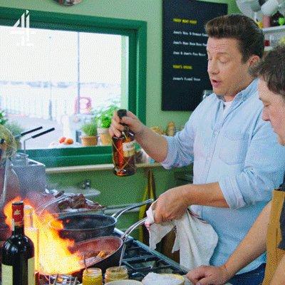 FLAMIN' ELL! Jamie's raising the steaks. #FridayNightFeast https://t.co/fz80JCjEeU