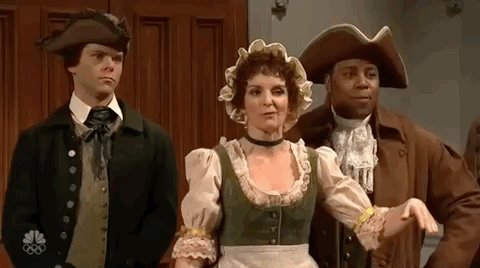 Watch Tina Fey and Rachel Dratch go at each other with some Revolutionary War-era trash talk