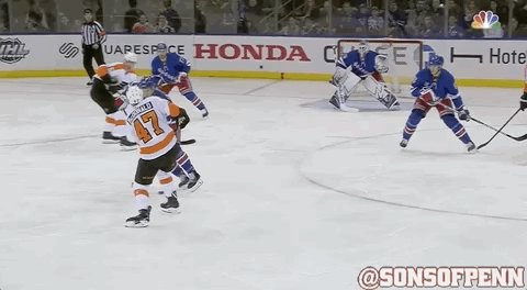 MacDonald's shot is whiffed at by Lehtera and it must have confused Lundqvist before the goal. https://t.co/5sINV2fQAb
