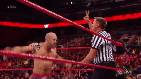 Erratic reactions all around!  @TitusONeilWWE & #Apollo have DEFEATED @WWECesaro & @WWESheamus on #RAW! The work of #TitusWorldwide statistician @DanaBrookeWWE pays off! https://t.co/qdUX9jv7im