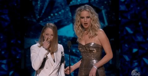 Just Jennifer Lawrence being Jennifer Lawrence at the Oscars...Again.