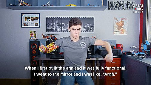 Meet the kid who built a prosthetic arm out of LEGO bricks. https://t.co/a1J2PnxcL0 https://t.co/XiBNYs2azg