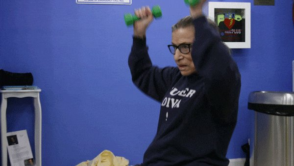 Hero. Icon. Fitness guru. Happy Birthday to Ruth Bader Ginsburg, our favorite superhero.