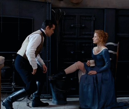 Happy birthday Jessica Chastain!   Here\s Colin and Jessica in \Miss Julie\ (2014)
