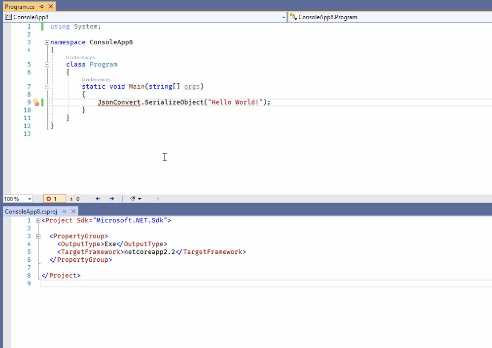 Turned on by default in 16.1, Visual Studio will offer to resolve types to NuGet packages and install them automatically for you. https://t.co/td0uRqrgrl