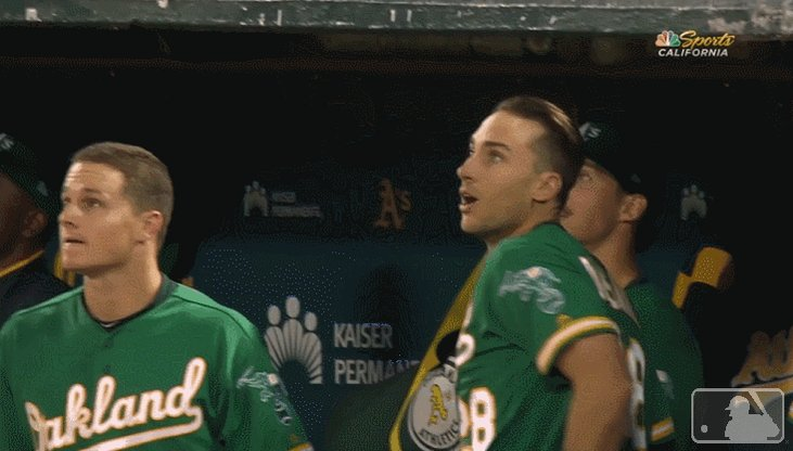RT @Athletics: OLY 💣!  BACK-TO-BACK JACKS!  #RootedInOakland https://t.co/zsCAJRNswt