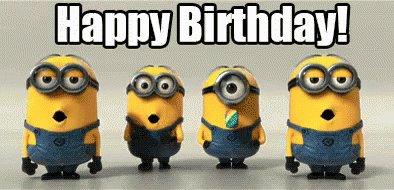 Happy birthday wish from the minions