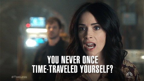 why didn't you tell me this during the pilot!?!? @ignatius_sancho #Timeless https://t.co/yAjxllImRg