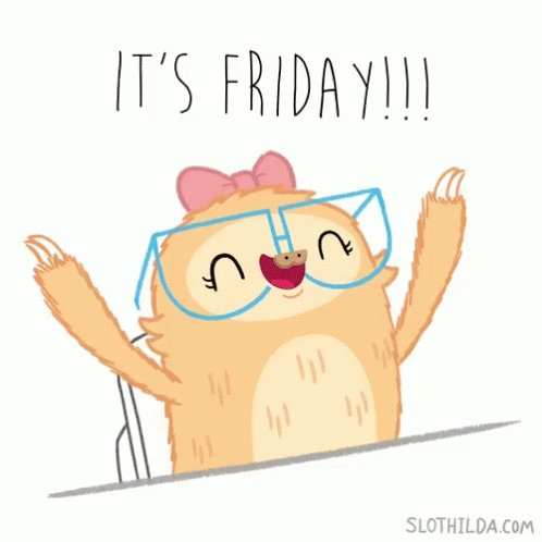 It's FRIDAY! 😃 https://t.co/v5LiqO4UoV