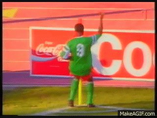 Happy birthday Roger Milla, the Cameroonian star of 1990 World Cup. And his goal celebration dance!