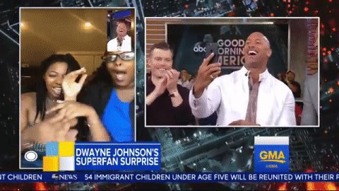 RT @GMA: MOOOOOOOD  When Dwayne @TheRock Johnson is on the other end of the phone ???? https://t.co/52sVu7EDd2