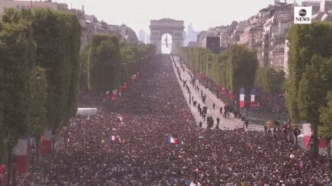 Paris celebrates France's World Cup victory, their second: