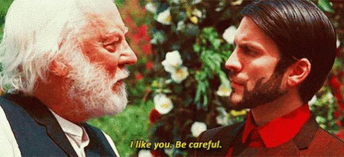 Today s film quote  See gif  The hunger games  Happy birthday Donald Sutherland
