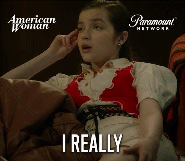 Sassy pants - @ImMakennaJames I love you!  #AmericanWomanTV https://t.co/44rwtubCTQ
