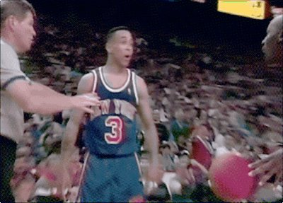 Starks wasn\t afraid to give MJ that smoke..... Happy Birthday John Starks!