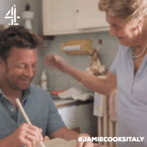 The face you pull when you've done a good job… ???? #JamieCooksItaly https://t.co/x9XNAkRgvA