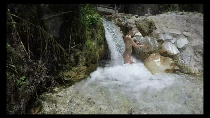 Nude in the Waterfall - Behind the scenes in Spain RweYiWKH6c #BEHINDTHESCENESBTS #Clips4Sale