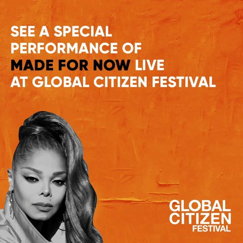 See a special performance of #MadeForNow at #GlobalCitizen Fest TODAY. 7:04PM ET on Instagram or Facebook live ☺️ https://t.co/GPPBYTyZHN