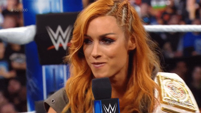This @BeckyLynchWWE reaction gif needs to become a thing.  #BooTheWoo #RelentLass #LynchMob #SD1000 #SDLive https://t.co/7YFpwdhS7w