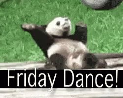 Leaving work on a Friday like... 🐼