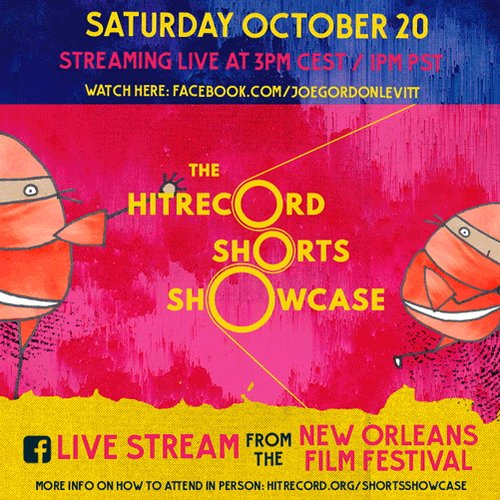 It's all happening... (later today) #HRShortsShowcase https://t.co/4r62KYy9il