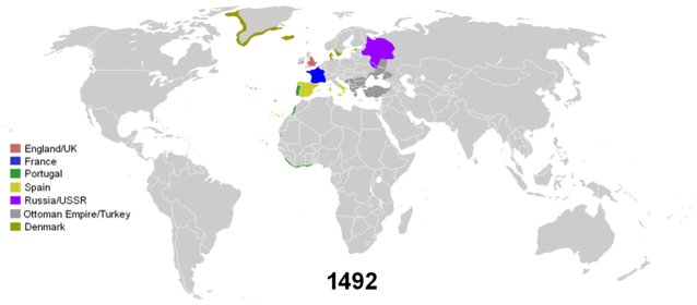 RT @xruiztru: Map shows the history of colonialism since 1492.  https://t.co/lVOdMVVc7h