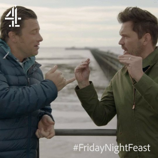 These two are always 'crabbing' around. ????  #FridayNightFeast https://t.co/Nl1Q8jKJ7Z
