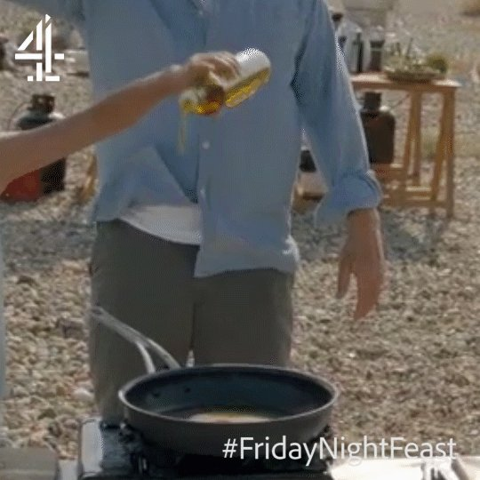 The olive oil drizzle struggle is real. ???? #FridayNightFeast https://t.co/whPIc4lGAx