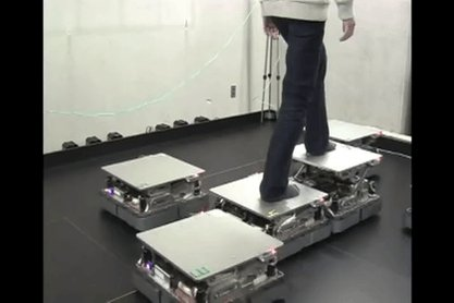 RT @MachinePix: Robotic tiles for VR movement by Hiroo Iwata at the University of Tsukuba. https://t.co/InSQAqSl0l