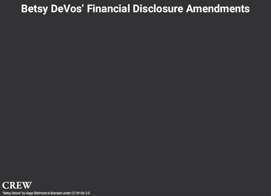 RT @AlamoOnTheRise: Add... Hmm. Why has Betsy DeVos amended her financial disclosure form this many times? https://t.co/aVfCcdOofH