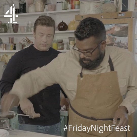 Move over, Salt Bae. @RomeshRanga is in town! ????  #FridayNightFeast https://t.co/x21dStm4MO