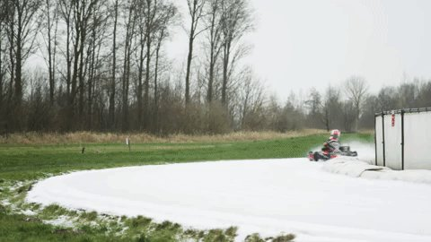 Ice cold karting ❄️ Bulls are let loose in the Netherlands