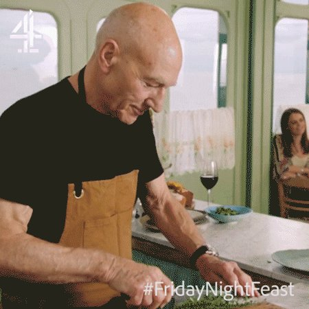 Live long and... wiggle, @SirPatStew? #FridayNightFeast https://t.co/5Kz5X8RsQe