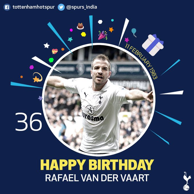 Happy birthday, Rafael van der Vaart!  Tell us your favourite moment in a Spurs shirt!