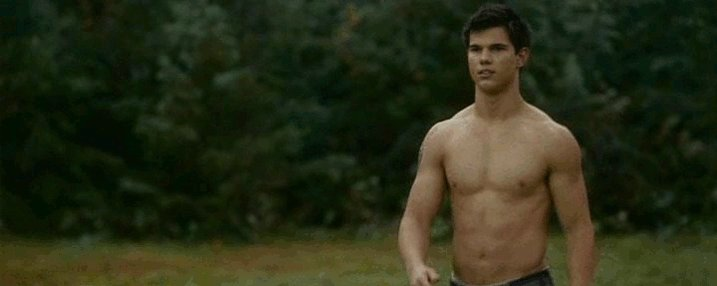 Happy Birthday to Taylor Lautner, Jacob Black in Twilight.