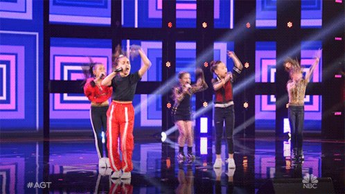 Our new dance party jam ????????#agt you had me at hello @GForceDreamBIG https://t.co/UZu3vXfwOm