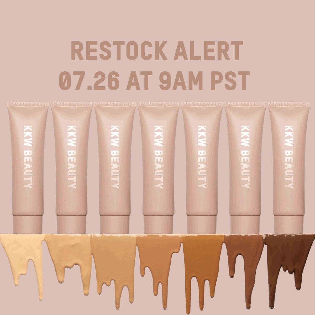 Restock alert!!!! My @kkwbeauty Body Collection is coming back to https://t.co/sbyklMQhdE today at 9am pst ✨ https://t.co/jlRfhL7etp
