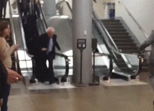 I looked up and noticed that Bernie Sanders was passing my way today. Is he still in the running for 2020?🤔 https://t.co/K0q9N0LKtX