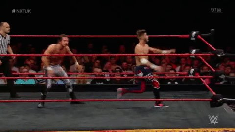 Springboard back-elbow CONNECTS for @KennyWilliamsUK!  #NXTUK https://t.co/FwSPSjIRdz