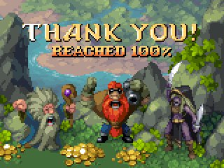 Yesterday my project reached 100%. After a day of recovering and drawing these new sprites I'm here to express my gratitude. 😉 Thank you so much for your support! Still 10 days to go though, Let's tell more people about it now! Cheers, Henk. 😍 #pixelart