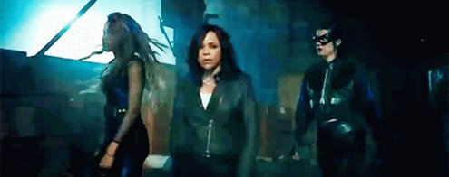 """@paigetheprncss @WeekesPrincess @PrncessScrivnr @birdsofpreywb @cyan852 Fingers crossed Black Canary, Cassandra Cain , Renee Montoya and Huntress make more appearances in the DCEU . Btw I love the @ADONA_music cover of """" hit me with your best shot """" ."""