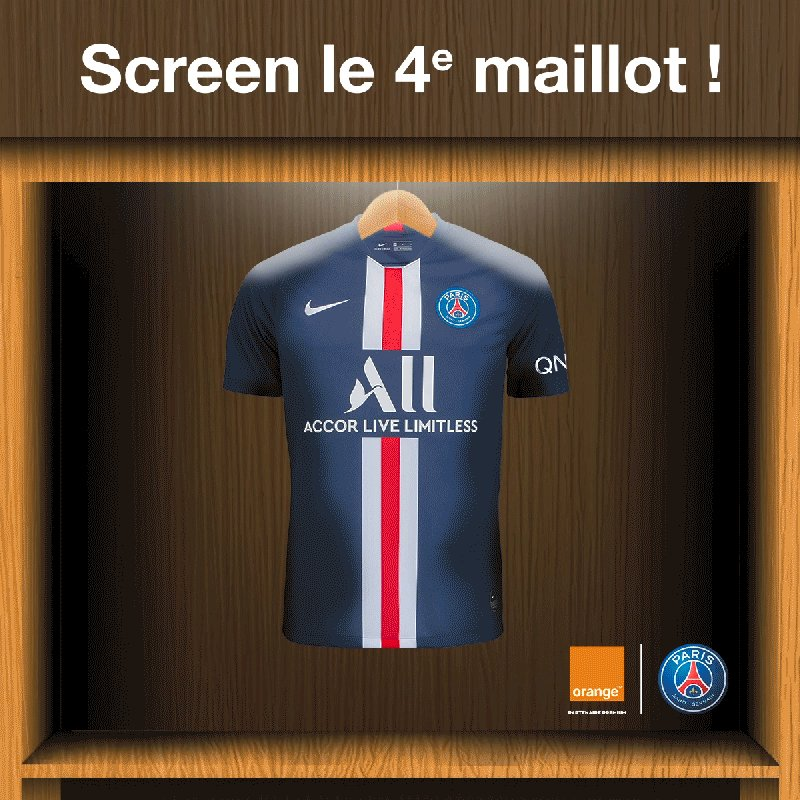 📲 Screen-moi si tu peux ! 📲   Le 4ème maillot du @PSG_Inside se fait désirer...   Stop le GIF au moment où il apparait et repost-le en commentaire !    Tu recevras peut-être un DM de notre part ! 📩 🎁   #OrangePasseurdEmotions